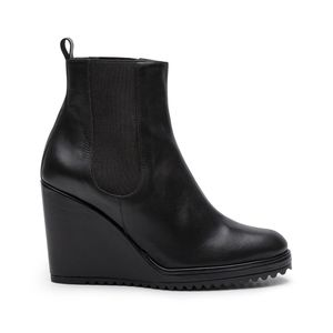 Castaner Chelsea Qufu Wedge Boots Black Leather 38